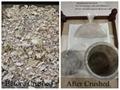 Residuos humanos cremados de trituradora de crematorio