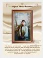 De pie y recordar personas de pantalla dsigital de retrato para funeraria