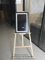 pantalla de retrato digital en funraria