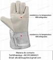 Guantes protecciones de calor  para uso en crematorio