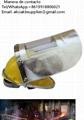Crematorio manipulador resistente al calor máscara