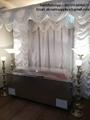 Vidrio congelador ataúd funeraria para su visualización sin necesidad de embalsa