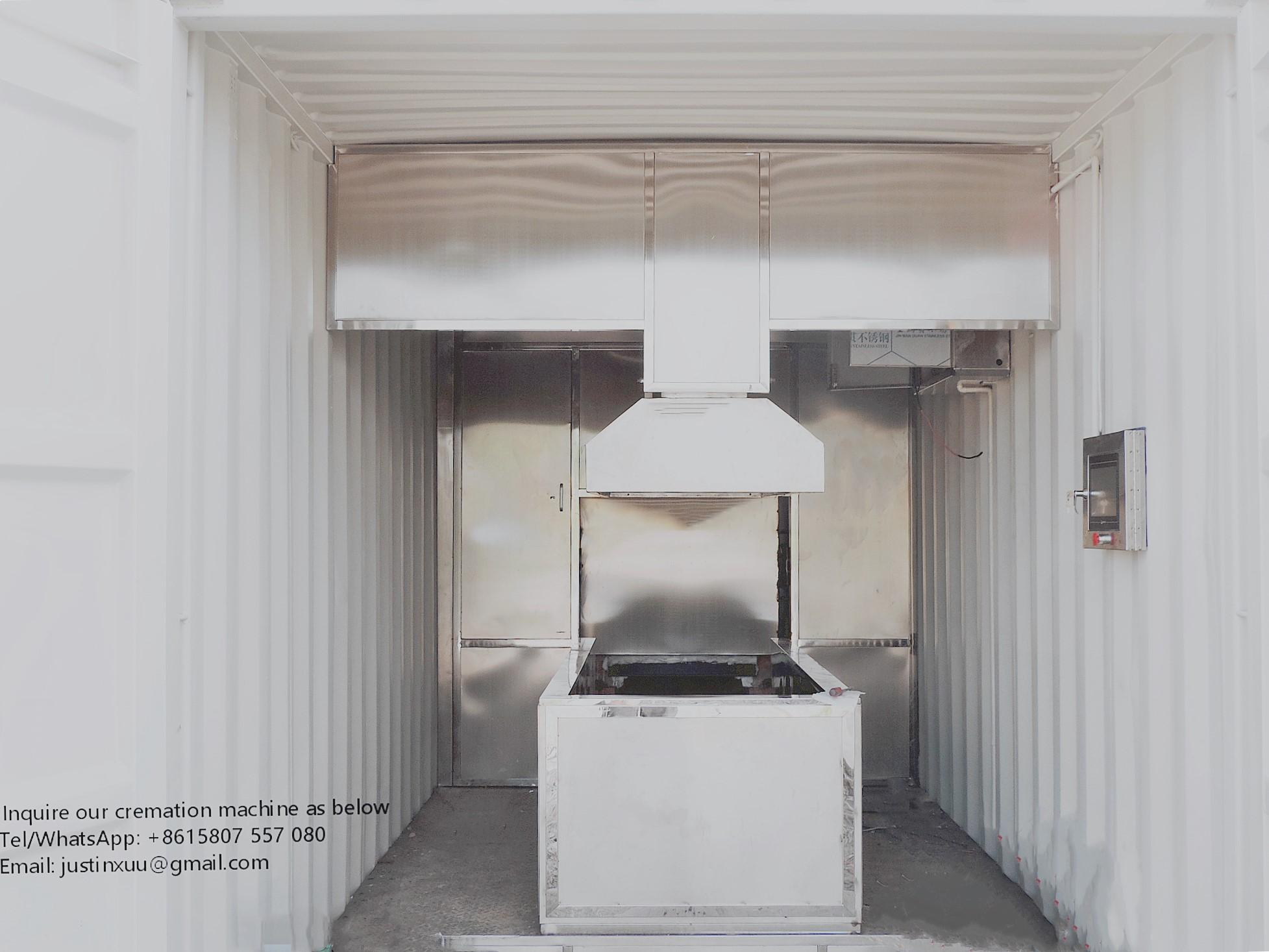 Human movable crematorium incinerator type for virus death designed for Malaysia