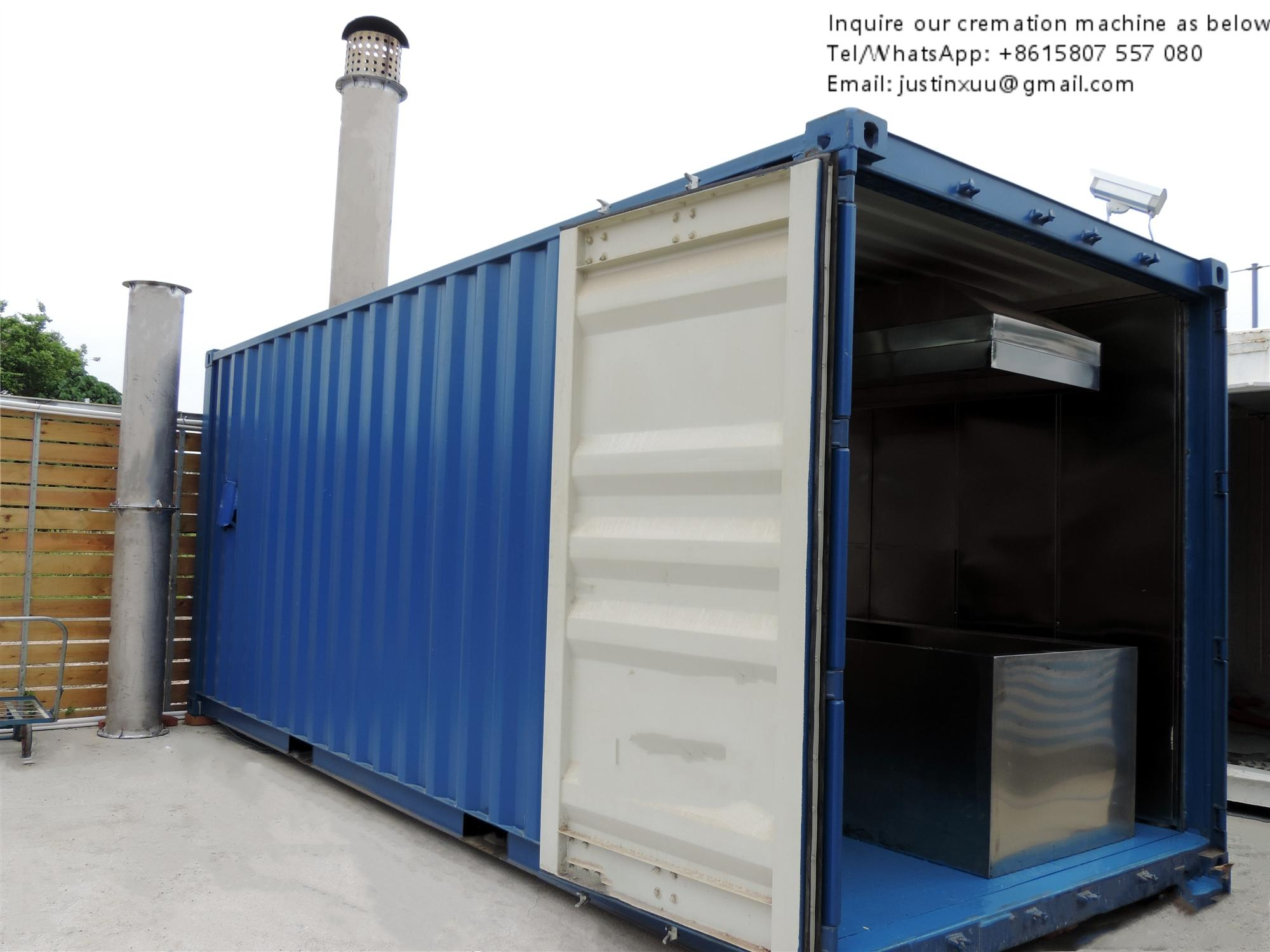 truck trailer crematorium machine emergency lorry designed for Russia market  3