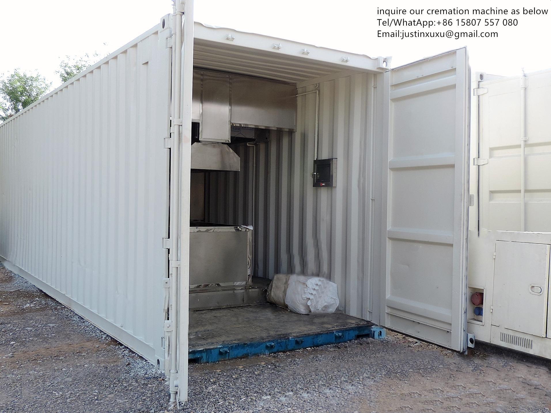 truck trailer crematorium machine emergency lorry designed for Russia market  1