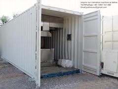 truck trailer crematorium machine emergency lorry designed for Russia market