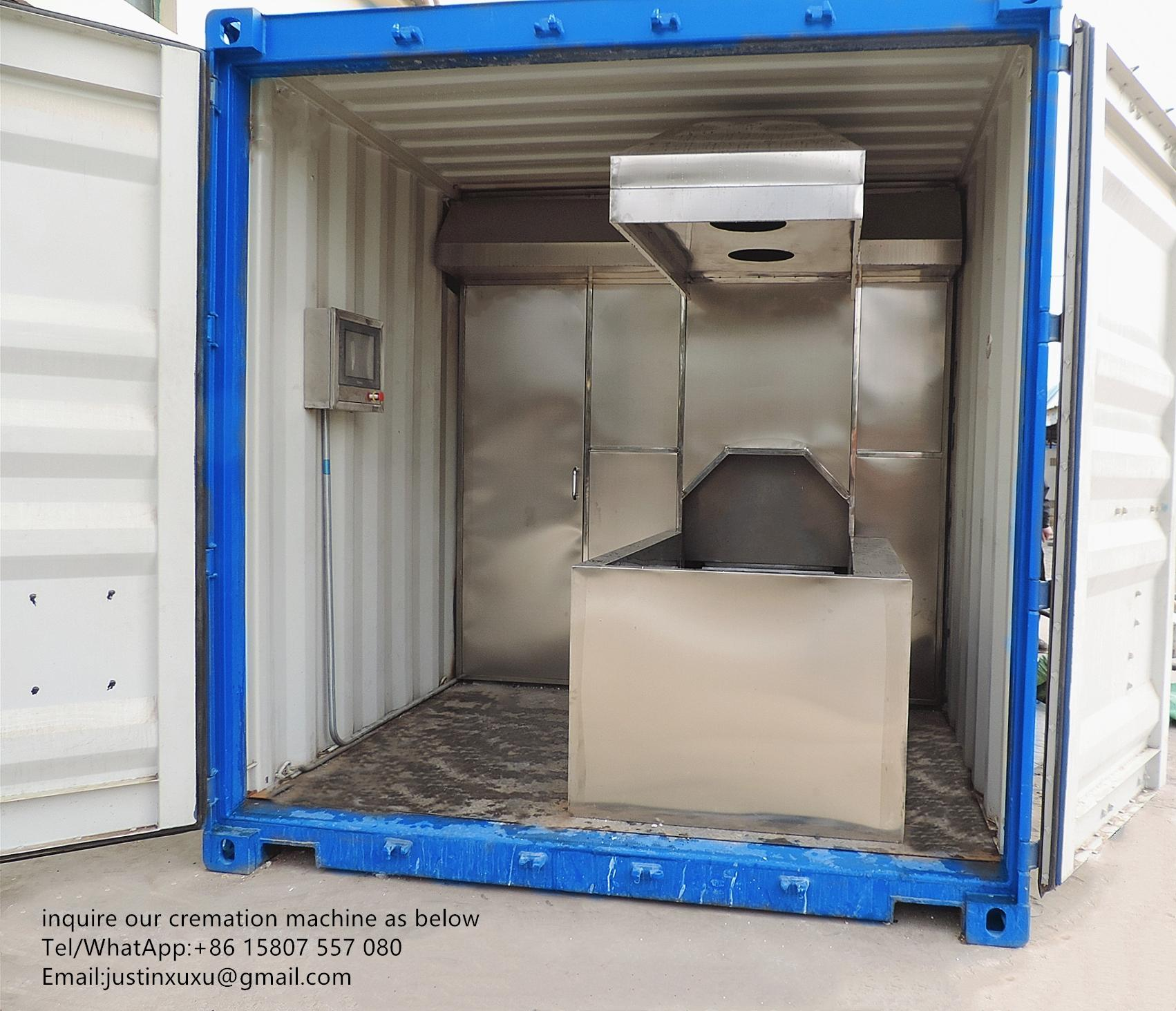 truck trailer crematorium machine emergency lorry designed for Russia market  4