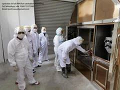 movable cremate machine crematorium incinerator mobile crematory on truck lorry