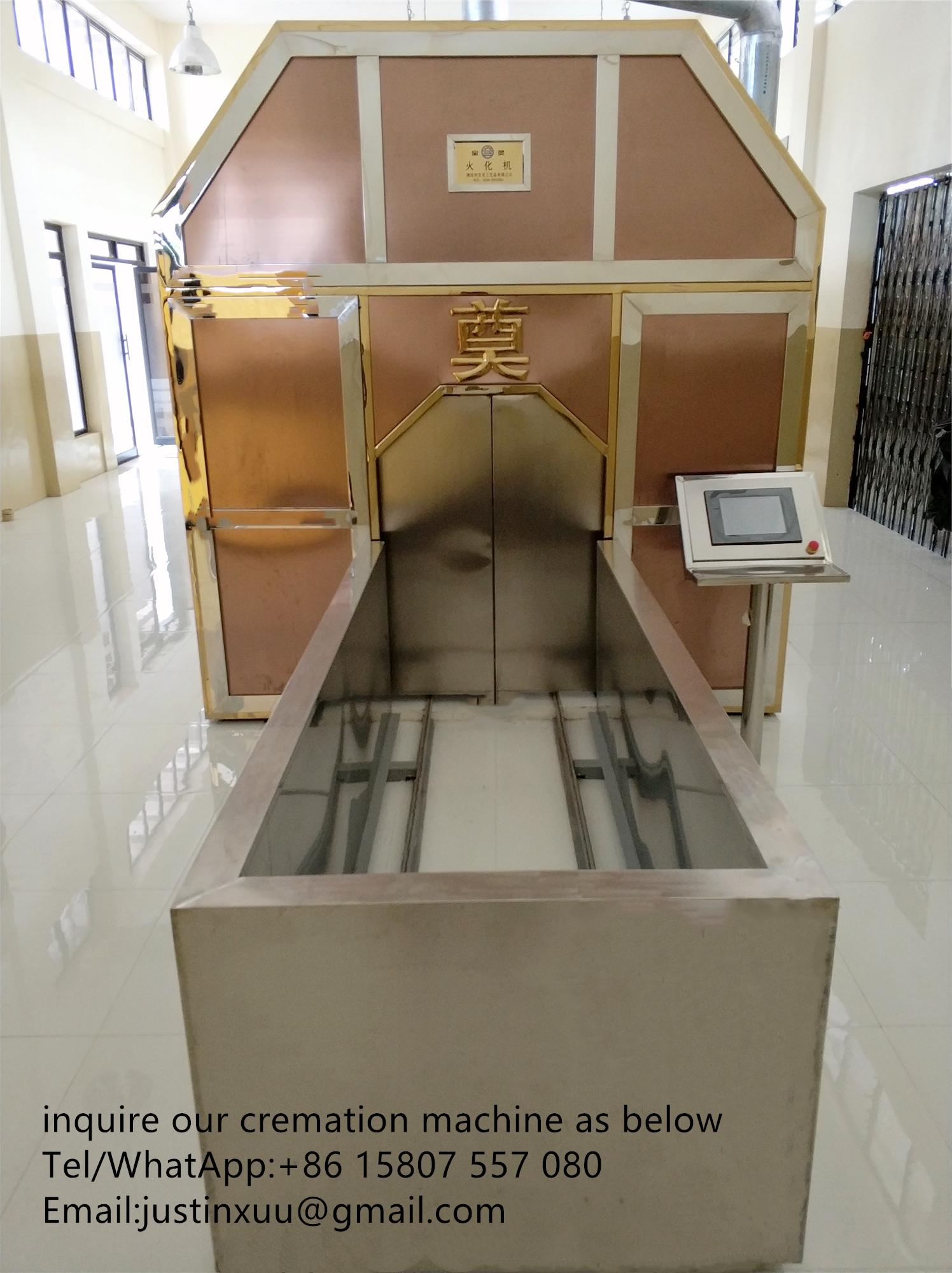 cremator in container movable crematorium machine
