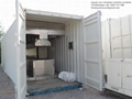 moving container furnaces for human cremation designed for Malaysia market