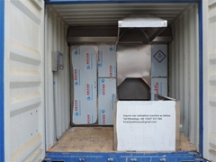 Container crematory system burn death body human designed for Russia market