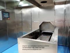 Crematorium machine container human body burn designed for Phillipines market