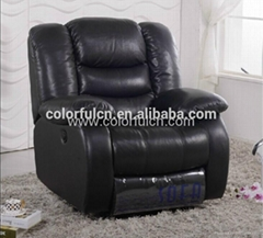 Black Leather Recliner Sofa  Recliner Single Sofa LS627