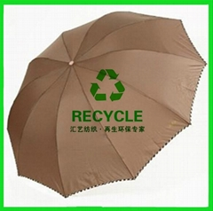 Recycled umbrellas fabric