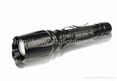GL-F006 XML-T6,10W ,1200lumen strong brightness ,rechargeable and dimmable torch