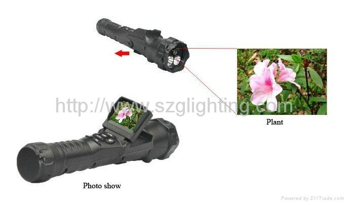 GL-FL60 torch with vedio camera 3