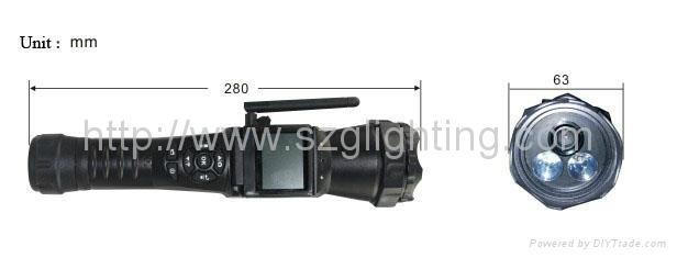 GL-FL60 torch with vedio camera 4