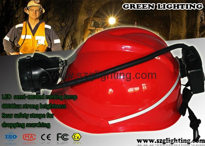 GS12-A  semi-corded led mining light with Rear warning light 5