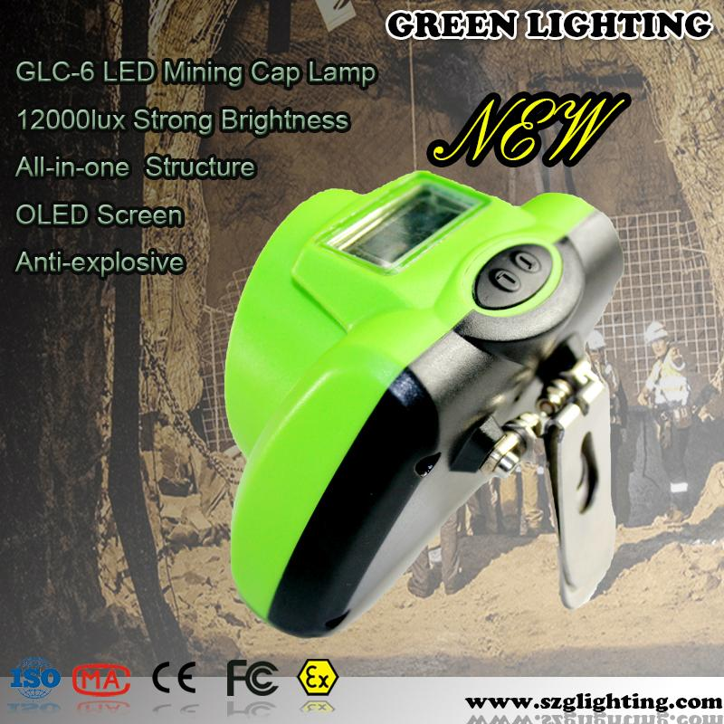 GLC-6 13000lux IP68 water-proof minners cap lamp with USB Charger 4