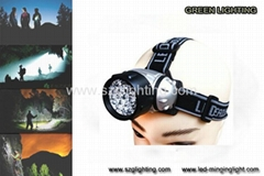 GL-21HD 21pcs leds portable mining head lamp