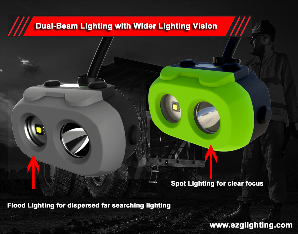 Dual-Beam Lighting with Wider Lighting Vision
