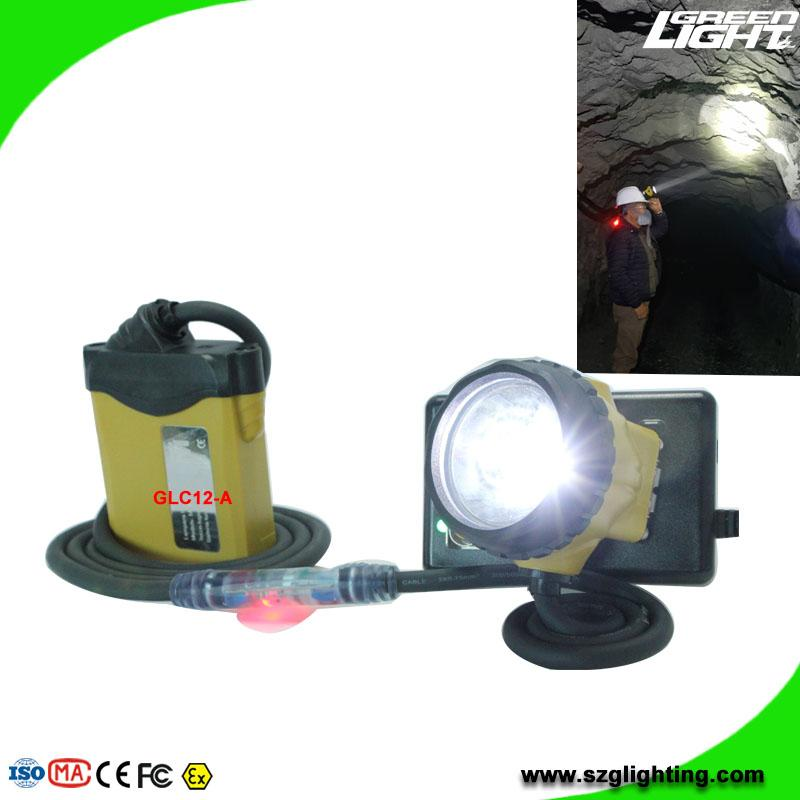 25000 Lux Safety Underground Mining Cap Lamp with Cable Flashlight  2