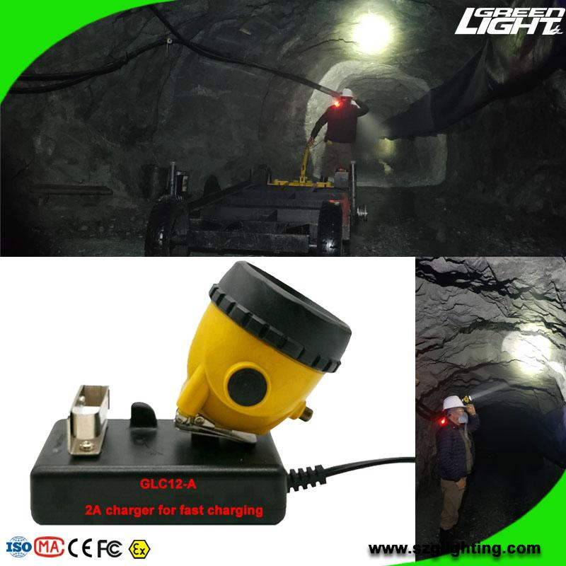 25000 Lux Safety Underground Mining Cap Lamp with Cable Flashlight  5