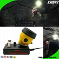 25000 Lux Safety Underground Mining Cap Lamp with Cable Flashlight
