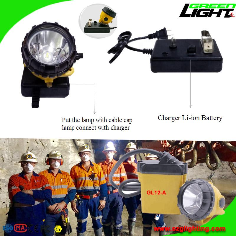 25000 Lux Safety Underground Mining Hard Hat Lights with 4 Levels Lighting Mode 5