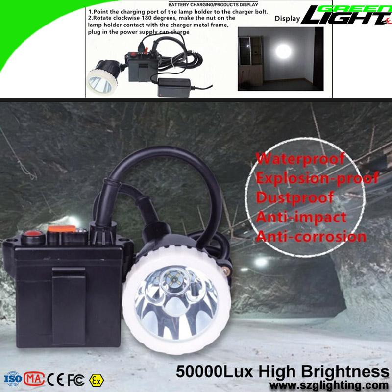 Brightest 50000 Lux Underground Mining Cap Lamps for Hunting 5