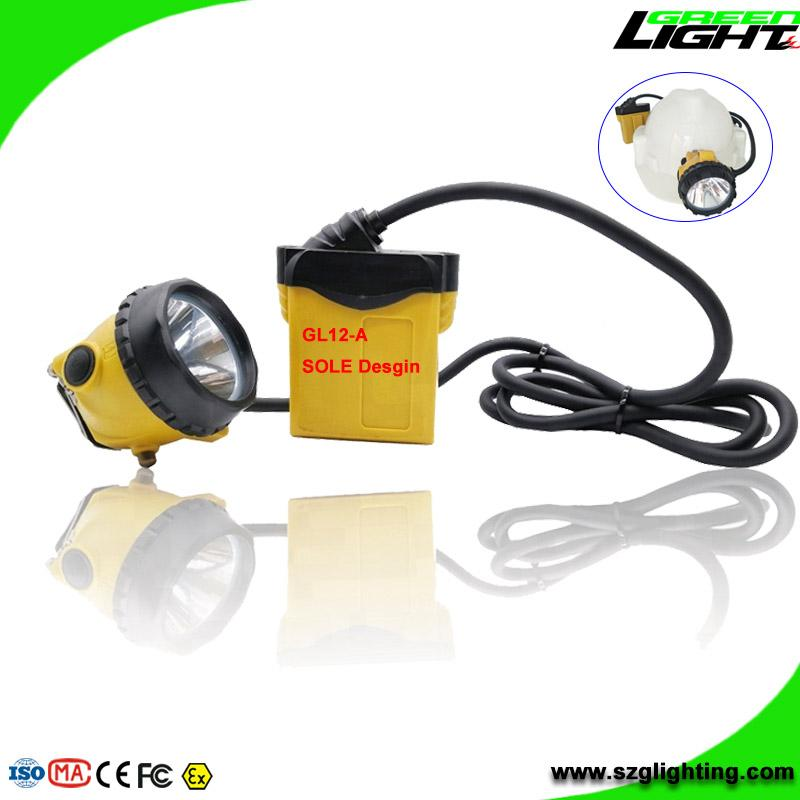 25000 Lux Mining Safety Cap Lamp with Cable SOS Low Power Warning Function 1