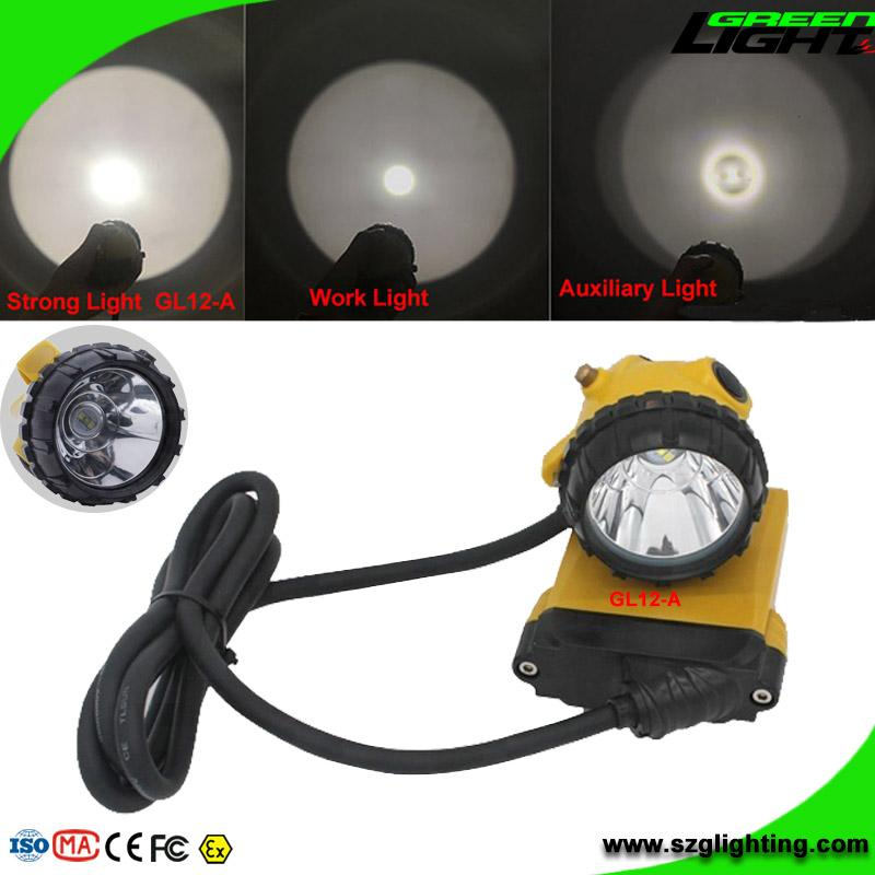 25000 Lux Mining Safety Cap Lamp with Cable SOS Low Power Warning Function 2