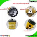 25000 Lux Mining Safety Cap Lamp with Cable SOS Low Power Warning Function 4