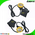 10000 Lux Underground Mine Lights Rechargeable Mining Headlamp with SOS
