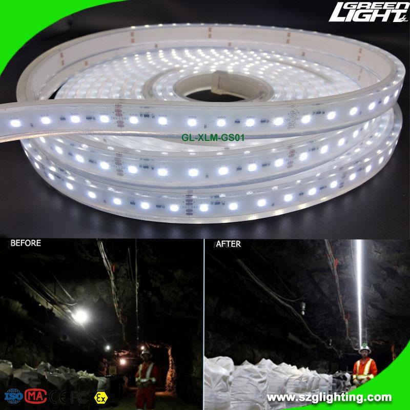 Waterproof 24V LED Flexible Strip Lighting Explosion Proof For Underground Mine