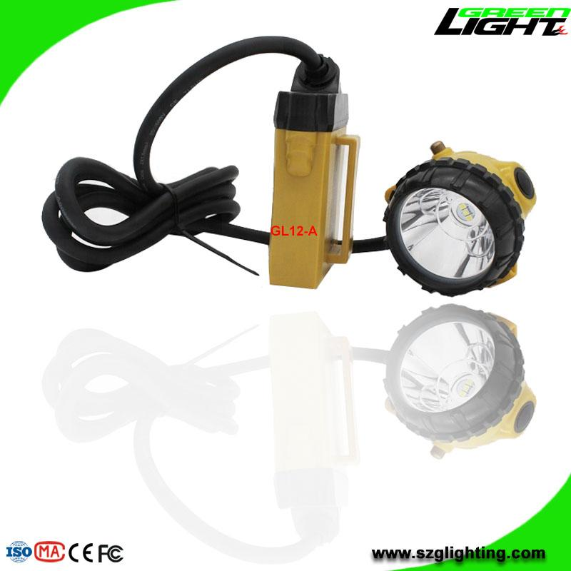 GL12-A LED Mining Cap Light with Cable 25000 Lux SOS  1