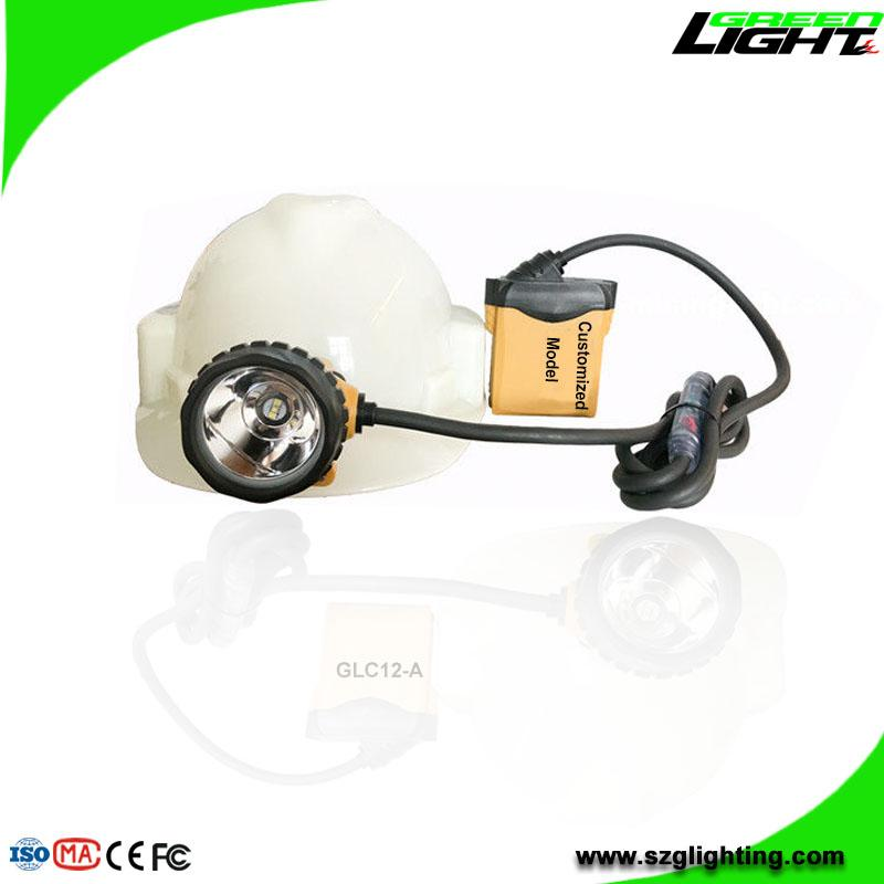 25000 Lux Mining Headlamp with Cable Flashlight Low Power Warning High Safety  1