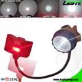 6.8Ah Panasonic Battery Mining Cap Lights 15000 Lux Underground Hard Hat Light