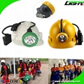 Rechargeable Coal Miner Headlamp Waterproof LED Cap Lamp with Cable USB Charger