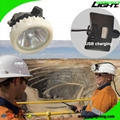 5.2Ah Black Safety Underground Mining Cap Lamp Rechargeable Explosion Proof