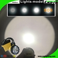 25000 Lux Rechargeable LED Mining Lamp Waterproof Coal Miner Cap Light 4