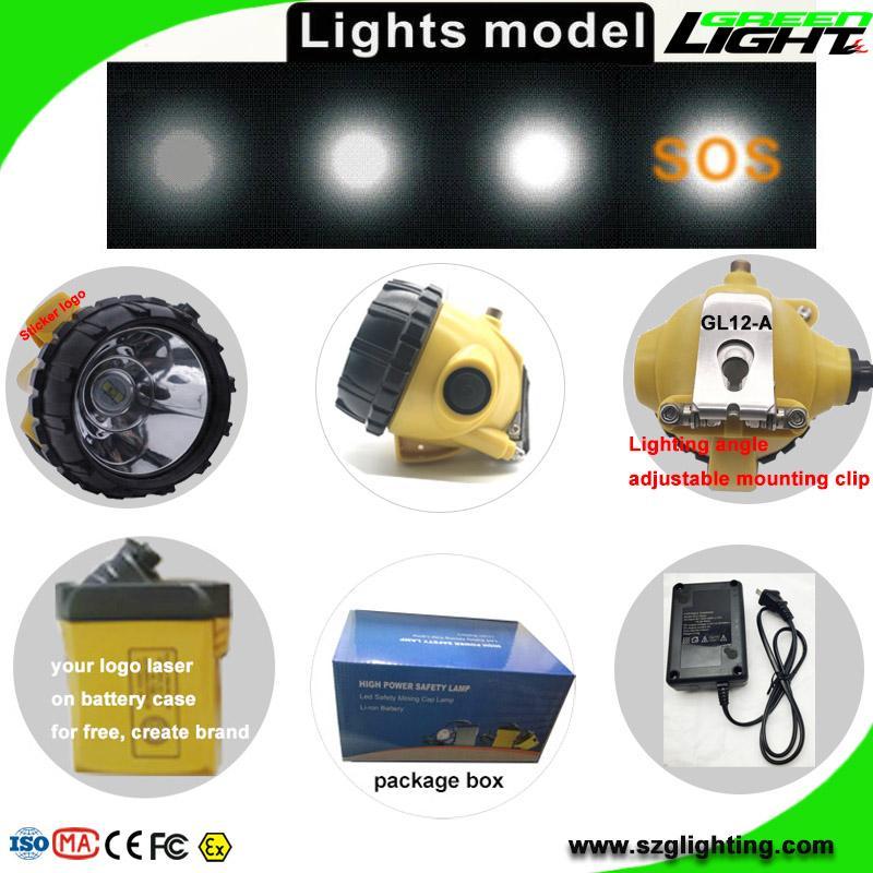 High Low Beam Rechargeable Coal Miner Headlamp Waterproof IP68 Mining Cap Light  5