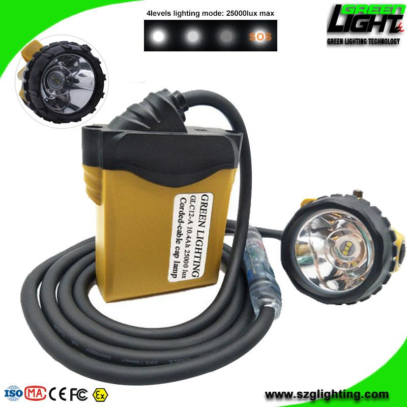25000 Lux High Safety Cree Led Mining Headlight with Lithium Battery  1