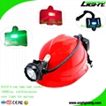 Semi Corded LED Mining Cap Light Waterproof Miner Headlamp with Rear Light