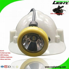 Msha Approved LED Mining Lights with Cable USB Charger Coal Miners Lantern (Hot Product - 1*)