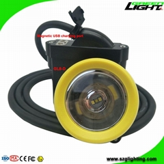 High Low Beam Miner Safety Cap Lamp Waterproof IP68 USB Charging