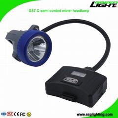 5.2Ah 10000Lux Semi Corded Mining Headlamp Rechargeable Miner Cap Light