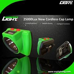 25000Lux LED Cordless Mining Light Brightest Miner Headlamp USB Charging