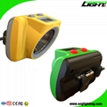 25000Lux Cordless Cap Lamp Brightest LED Mining Headlamp Handy Switch