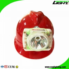 13000Lux Waterproof LED Miner Headlamp Cordless Mining Lights with USB Charger